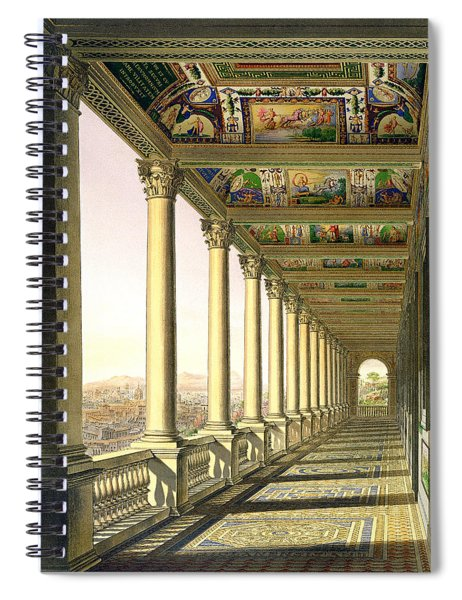 View Of The Third Floor Loggia Spiral Notebook