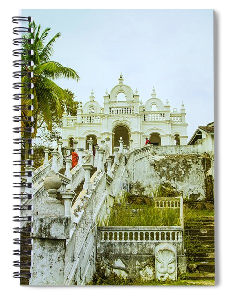 view to the Dodanduwa Temple Spiral Notebook