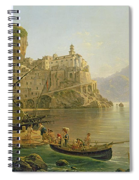 View Towards Atrani On The Amalfi Spiral Notebook
