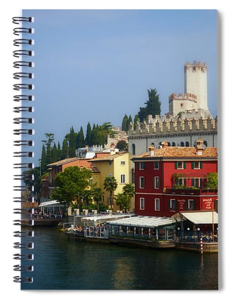 Village Near The Water With Alps In The Background  Spiral Notebook
