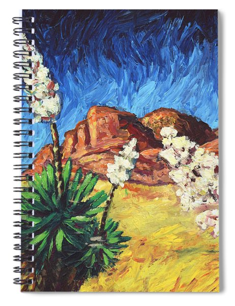 Spiral Notebook featuring the painting Vincent In Arizona by James W Johnson