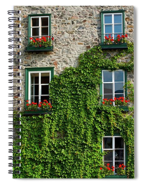 Vine Covered Stone House And Windows Spiral Notebook