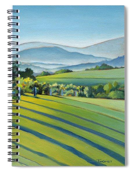 Vineyard Blue Ridge On Buck Mountain Road Virginia Spiral Notebook