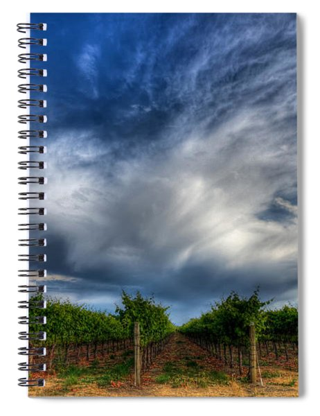Vineyard Storm Spiral Notebook