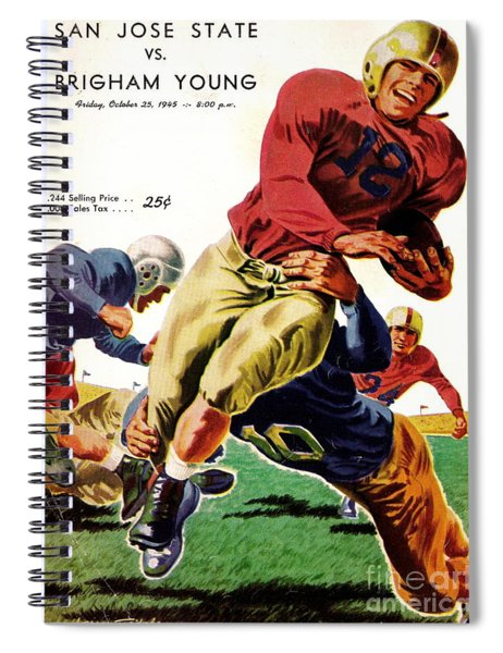 Vintage American Football Poster Spiral Notebook