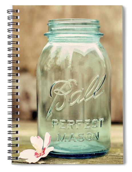 Vintage Ball Mason  Spiral Notebook