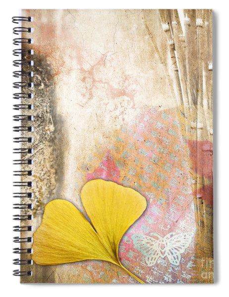Vintage Buddha And Ginkgo Spiral Notebook