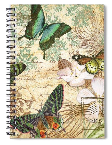 Vintage Butterfly Kisses  Spiral Notebook