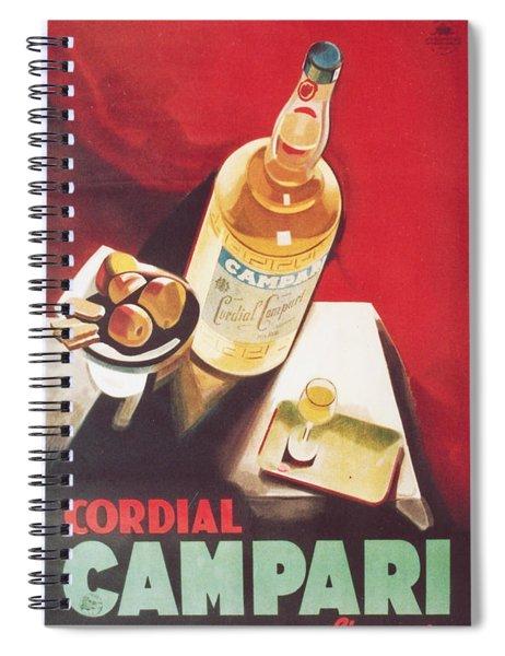 Vintage Campari Spiral Notebook