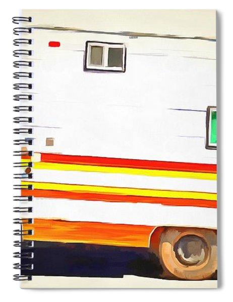 Vintage Camping Trailer Pop Spiral Notebook