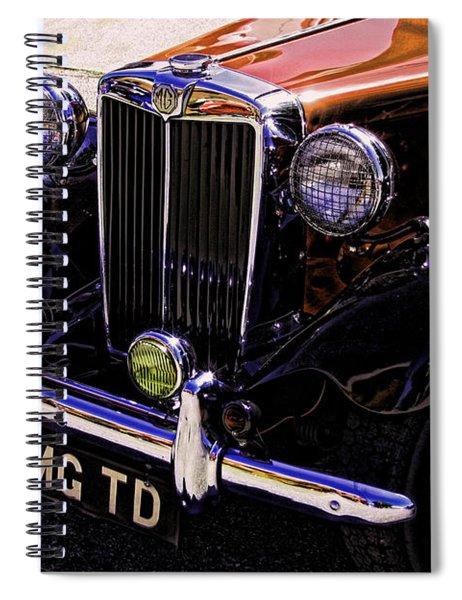 Vintage Car Art 51 Mg Td Copper Spiral Notebook