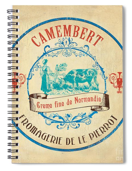 Vintage Cheese Label 3 Spiral Notebook by Debbie DeWitt