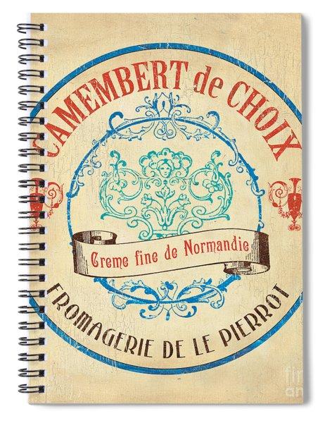 Vintage Cheese Label 4 Spiral Notebook