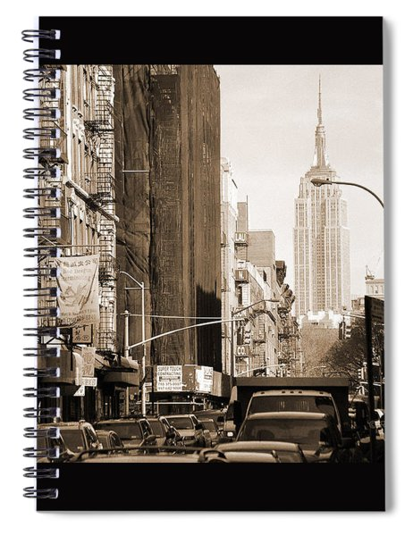 Vintage Chinatown And Empire State Spiral Notebook