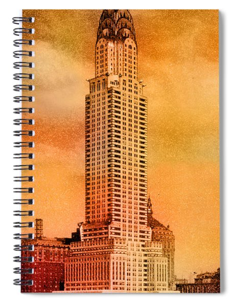 Vintage Chrysler Building Spiral Notebook
