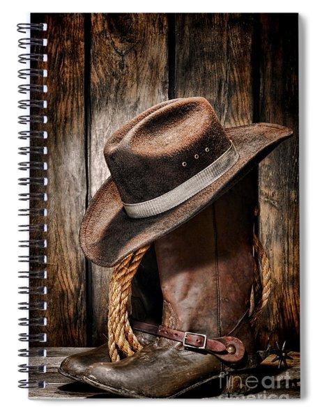 Vintage Cowboy Boots Spiral Notebook
