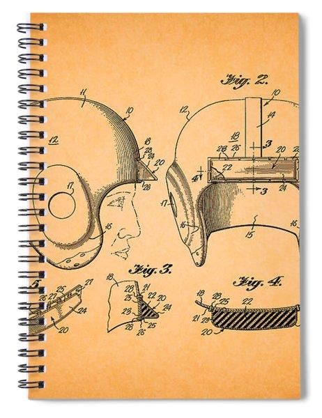 Vintage Football Helmet Patent 1956 Spiral Notebook