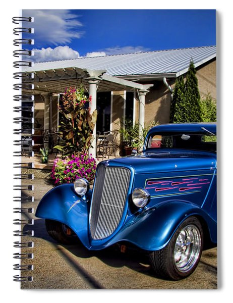 Vintage Ford Coupe At Oliver Twist Winery Spiral Notebook