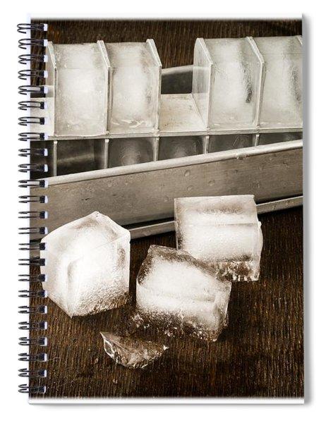 Vintage Ice Cubes Spiral Notebook