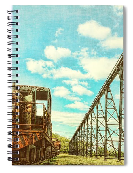 Vintage Industrial Postcard Spiral Notebook