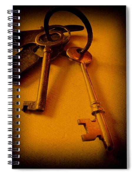 Vintage Keys Deep Antiqued Vignette Spiral Notebook