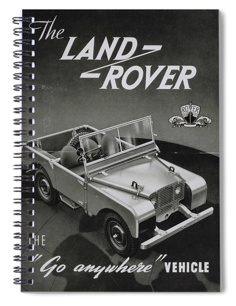 Vintage Land Rover Advert Spiral Notebook