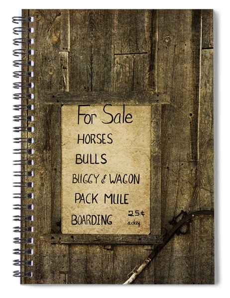 Vintage Livery Stable Spiral Notebook