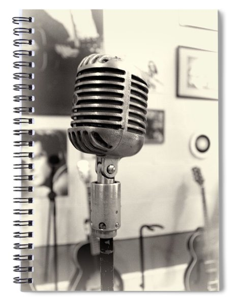Vintage Microphone Sun Studio Spiral Notebook