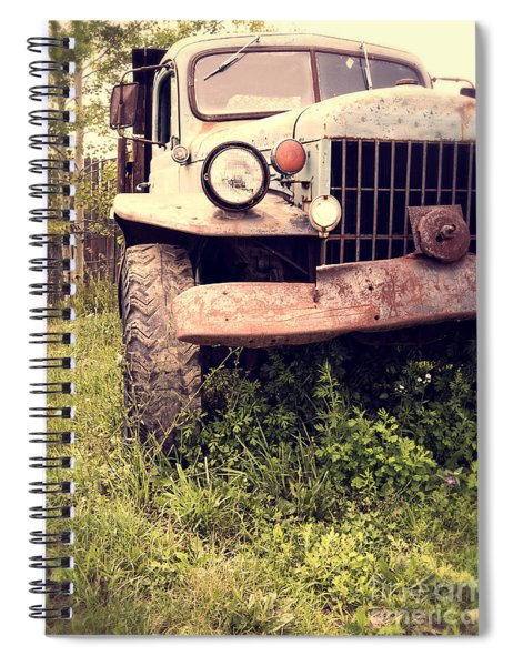 Vintage Old Dodge Work Truck Spiral Notebook by Edward Fielding