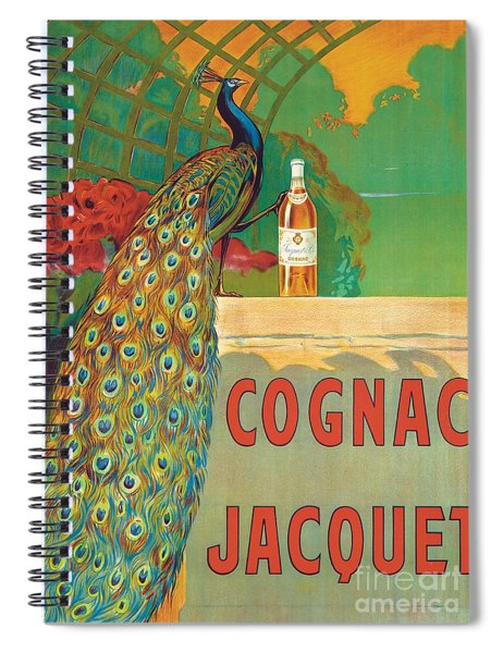 Vintage Poster Advertising Cognac Spiral Notebook