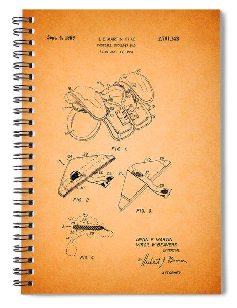 Vintage Shoulder Pad Patent 1956 Spiral Notebook