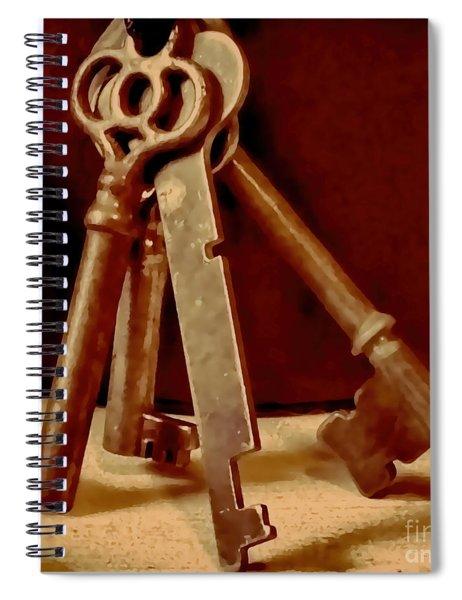 Vintage Skeleton Keys I Spiral Notebook