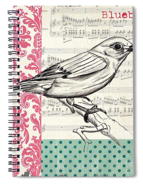 Vintage Songbird 1 Spiral Notebook