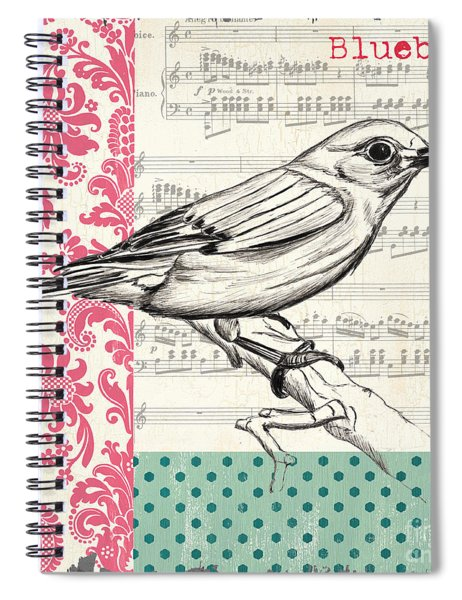 Vintage Songbird 1 Spiral Notebook