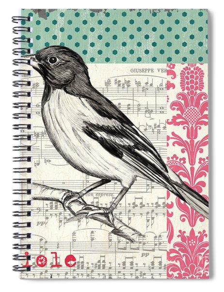 Vintage Songbird 2 Spiral Notebook