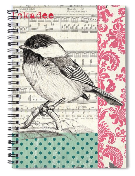 Vintage Songbird 3 Spiral Notebook