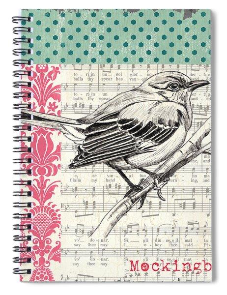 Vintage Songbird 4 Spiral Notebook