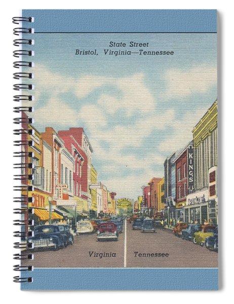 Vintage Va Tn Postcard Kress  Spiral Notebook