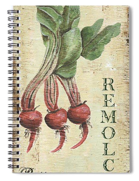 Vintage Vegetables 3 Spiral Notebook