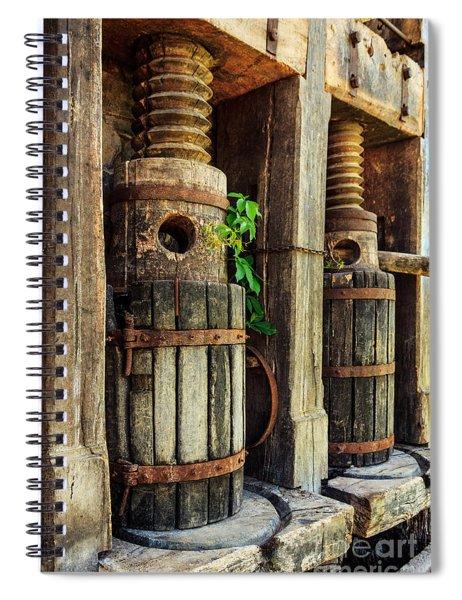 Vintage Wine Press Spiral Notebook