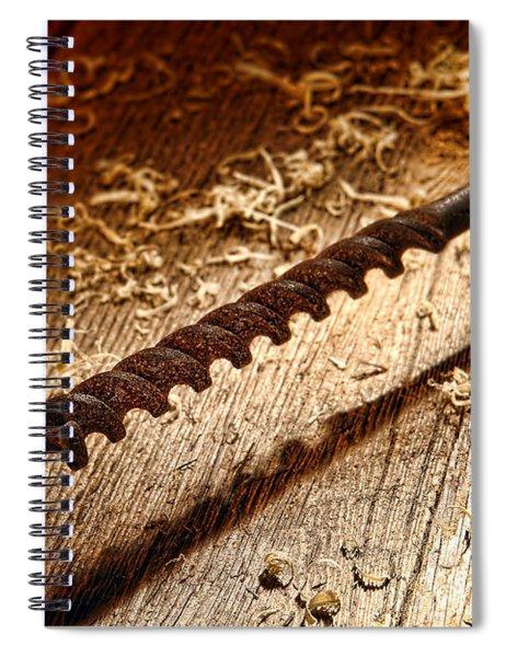 Vintage Wood Drill Spiral Notebook