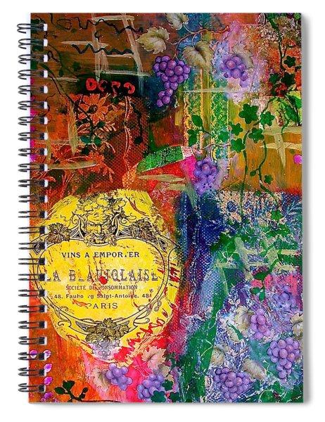 Vintner Label Spiral Notebook