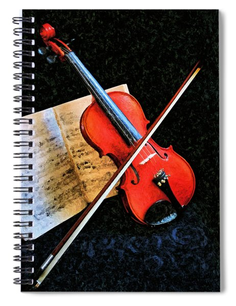 Violin Impression Redux Spiral Notebook