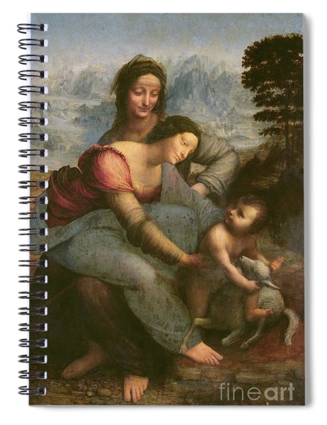 Virgin And Child With Saint Anne Spiral Notebook