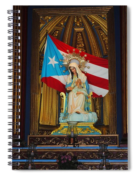 Virgin Mary In Church Spiral Notebook