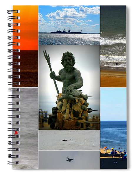 Virginia Beach Collage Spiral Notebook by Patti Whitten