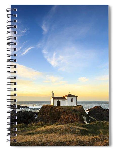 Virxe Do Porto Meiras Galicia Spain Spiral Notebook