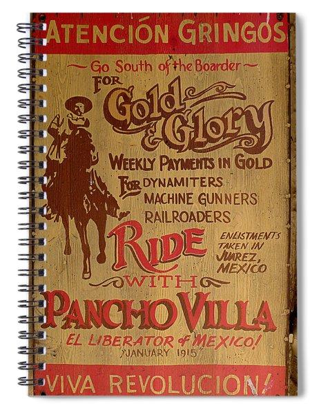 Viva Revolucion - Pancho Villa Spiral Notebook