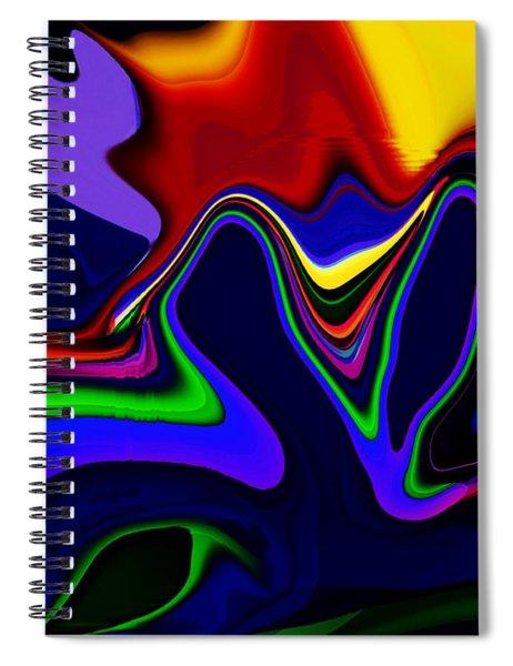 Vivacity  - Abstract  Spiral Notebook