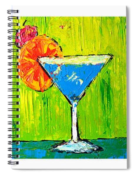 Vodka Martini Collection Bar Decor - Modern Art Spiral Notebook